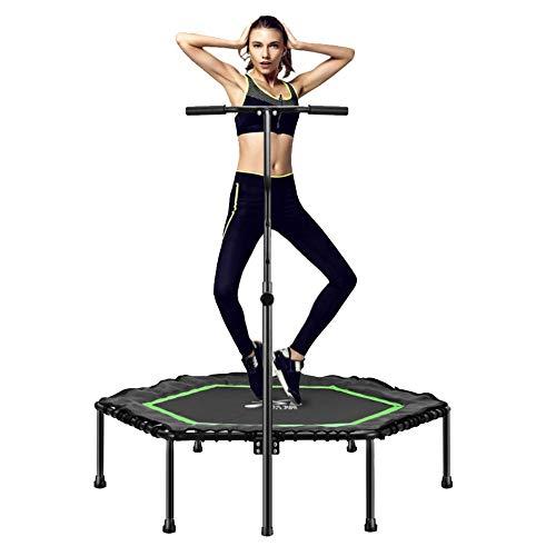 KY Outdoor Garten Trampolin 48-Zoll-Mini-Trampolin mit Lenker, Körpertraining und Cardio-Training, maximales Gewicht von 150 kg