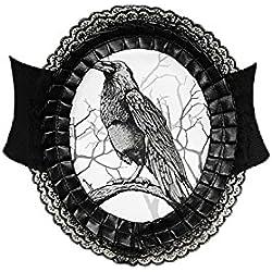 Restyle Ceinture serre taille élastique caméo noir corbeau
