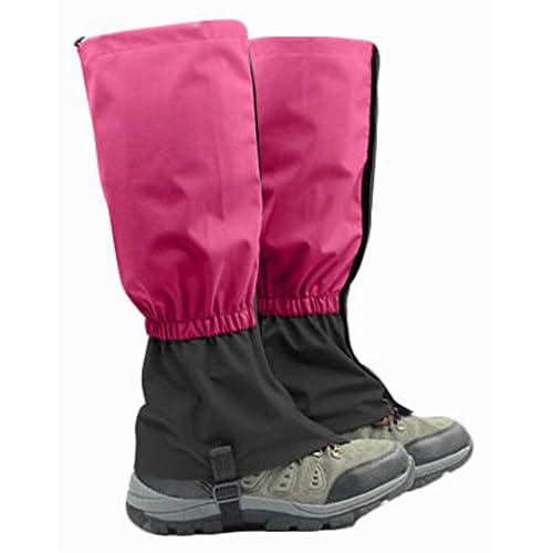 "Blancho Outdoor Waterproof Hiking Gaiters Snow Boot Gaiters Leg Gaiters, Rosered, 17.7"""