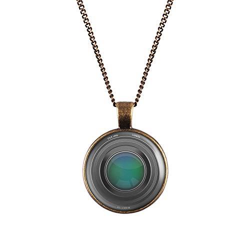 Mylery Hals-Kette mit Motiv Objektiv Digital-Kamera DSLR Linse Bronze 28mm