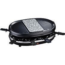 H.Koenig RP80 Raclette con Grill e Pietra in Granito per 8 Persone