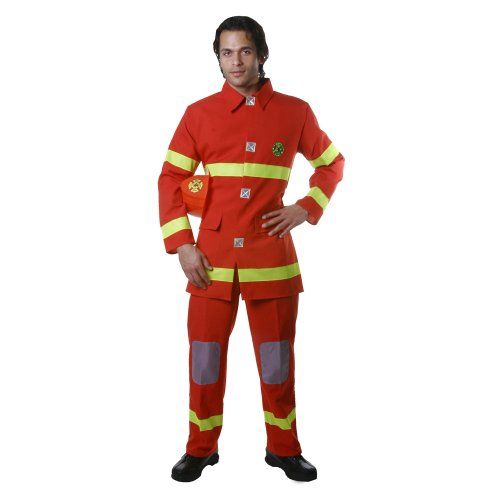 Dress Up America Erwachsene rot Fire Fighter ()