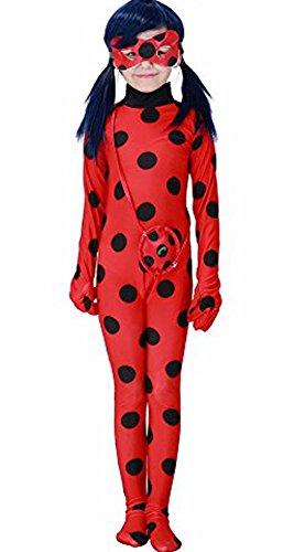 Cartoon Miraculous Ladybug Marienkäfer Hüfthalter mit Päckchen Party Cosplay Kostüm Kinder Größe M