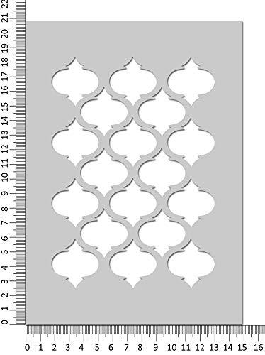 Marokkanische Vierpass Schablone Muster Basteln Wohndeko Gesichtsbemalung Schablone - Wiederverwendbar Mylar Stanze
