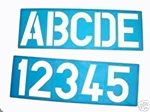 100MM ALPHABET STENCIL SIGNWRITING UPPER CASE & NUMBERS
