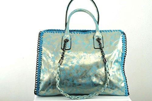 Anush Fashion, Borsetta da polso donna blu argento