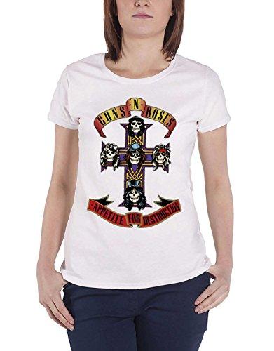 Guns N Roses T Shirt Appetite For Destruction Official Womens Super Skinny Fit