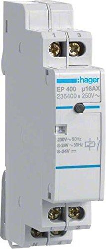 Hager EP400 elek.Fernschalter 1S 230V m. 2 getrennten Eingängen 8-24V AC/DC -