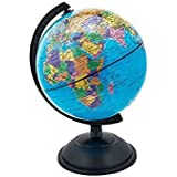 VARSHINE Premium Universal Globe || Table Top Political World Globe ||With Time Scale || Scratch Proof Surface || Ideal For Children || For Office|| For School || 8 Inch || Rotating Globe || A-03