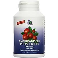 Avitale Preiselbeere amerikanisch 550 mg Kapseln, 240 Stück, 1er Pack (1 x 132 g) preisvergleich bei billige-tabletten.eu