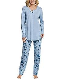 Schiesser Damen Zweiteiliger Schlafanzug Anzug Lang