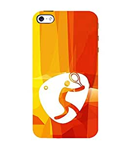 Print Masti Designer Back Case Cover for Apple iPhone 5 (Player Ball racket Tennis)