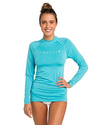 Flache Damen Shirt (RIP CURL WLY6FW Sunny Cloud,Lycra Longsleeve, UV Shirt, Langarm,Light Blue,S/165cm)
