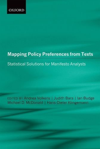 Portada del libro Mapping Policy Preferences from Texts: Statistical Solutions for Manifesto Analysts 1st edition by Volkens, Andrea, Bara, Judith, Budge, Ian, McDonald, Michael (2014) Hardcover