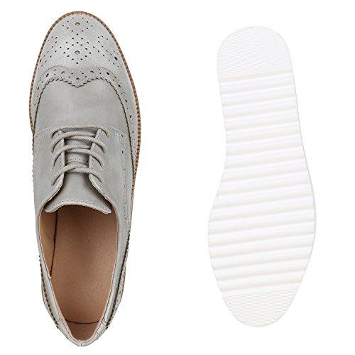 Stiefelparadies - Scarpe stringate Donna Grau