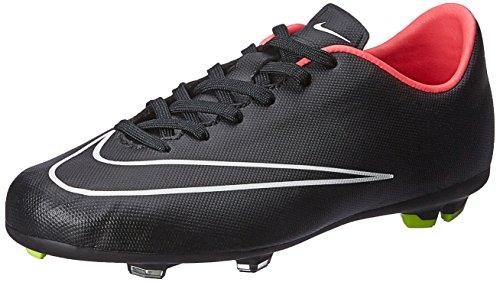 Nike  Mercurial Victory V Fg, Chaussures de Football Compétition mixte enfant Negro / Blanco (Black / Black-Hyper Punch-White)