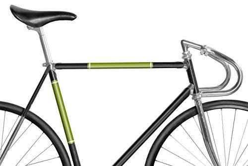 Mooxi-Bike Reflektierendes Panel Grasgrün, Inspiriert vom Rennrad Design der 60/70er Jahre Italiens, reflektierende Folie bis Rahmenstärke 15 cm Umfang