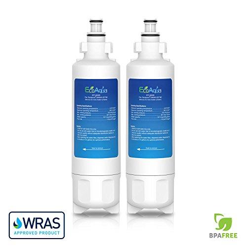 Twin Pack Vyair EcoAqua Panasonic CNRAH-257760 Compatible Fridge Water Filter #009QW8 by EcoAqua