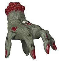 JCHPRODUCTS Living Zombie Hand with Sound and Movement 20cm Halloween Fancy Decoration Prop
