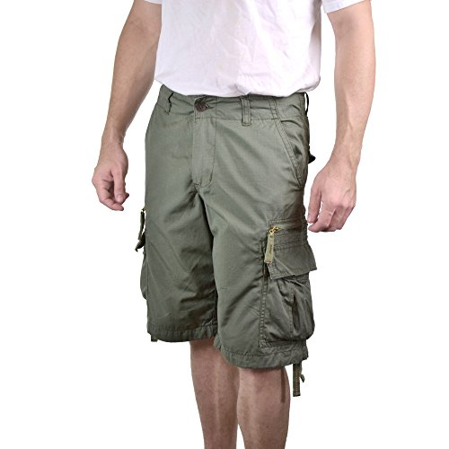 Reißverschluss-Anhänger Cargo-Shorts für Herren (Element Shorts Khaki)