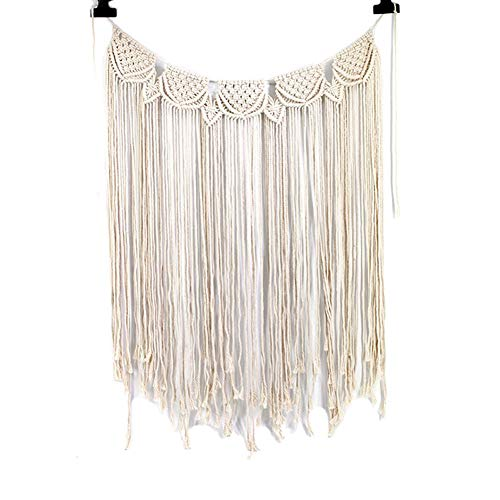 Maoran 1X Tapiz Tapicería de algodón Bohemio Atrapasueños con Flecos Inicio artesanía decoración Colgante de Pared joyería Creativa Borla decoración de la Boda Colgante 85 * 110cm
