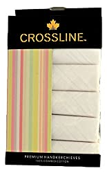 Crossline Men's Multicolour Handkerchief Pack of 6