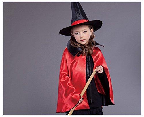 (Sulida Coole Halloween Dekor Kleid Scary Hexe Umhang Make-up Ball Robe Wizard Kostüm rot)