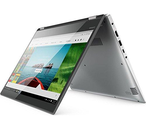 Lenovo Yoga 520 14 in Full HD 2 in 1 Touchscreen Laptop/Tablet - Intel Core i3-7100U, 4GB RAM, 128GB SSD, Bluetooth 4.1, Webcam, Windows 10 (64-bit) (Certified Refurbished).