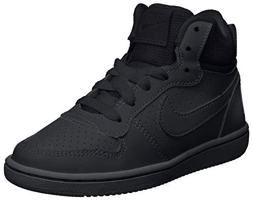 Nike Court Borough Mid (GS), Zapatillas de Baloncesto para Niños, Negro (Black/Black-Black...