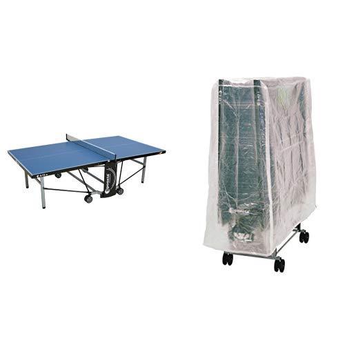Sponeta Tischtennis S 5-73 E, Blau, 213.7110/L & Sponeta Abdeckhülle für Tischtennisplatten mit Reißverschluss