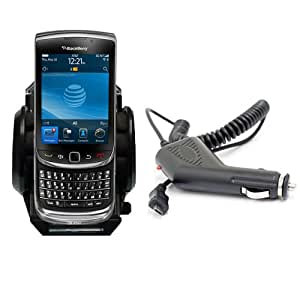 Xylo Car Kit: Windscreen Suction Mount Holder and In Car Charger for the BlackBerry 9800 Torch Slider Mobile Phone