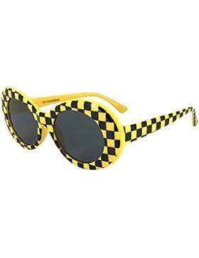 Logobeing Gafas de Sol Mujer Gafas de Sol Rapero Oval Shades Grunge Glasses Gafas de Sol Retro Vintage Eyewear