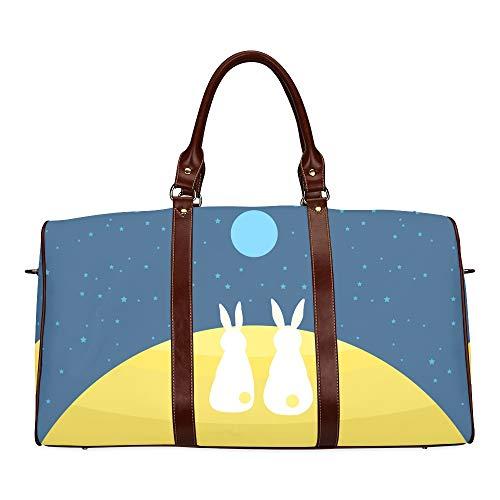 Travel Duffel Bag Schöne Kinderschmuck Little Rabbit wasserdichte Weekender Bag Overnight Carryon Handtasche Frauen Damen Einkaufstasche Mit Mikrofaser Leder Gepäcktasche - Männer Sonnenbrillen Korea