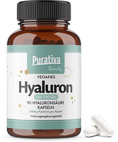 Hyaluronsäure Kapseln hochdosiert mit 360mg - 500-700kDa - Einführungspreis - 90 Stück (für 3 Monate) - Höchste Dosierung - reinstes Hyaluron - Kein Magnesiumstearat - Hergestellt in Deutschland