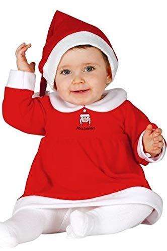 Miss Baby Santa Kostüm - Fancy Me Baby Mädchen Little Miss Santa Weihnachtsmann Fräulein Claus Kostüm Kleid Outfit - 12-24 Months, Rot, Rot