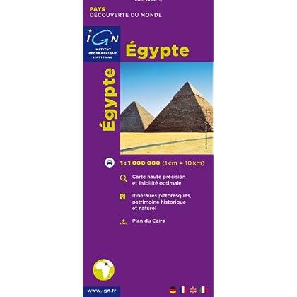 Carte routière : Egypte