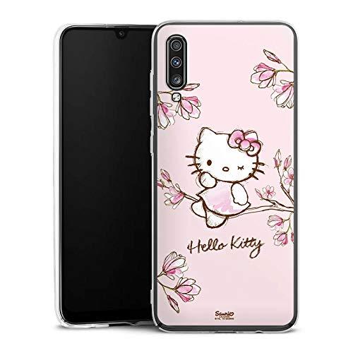 DeinDesign Hülle kompatibel mit Samsung Galaxy A70 Handyhülle Case Hello Kitty Merchandise Fanartikel Magnolia