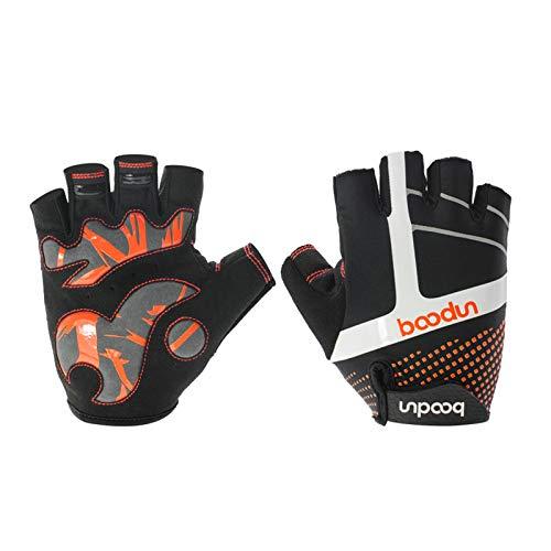 Gnzoe Mountainbike Fahrradhandschuhe Handschuhe Schock Absorption Rutschfest Outdoor Sport Buchstaben X Groß Orange -