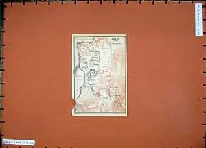 Lac Sacré Harbour de Delos de Plan de la Grèce de Carte Couleur 1909