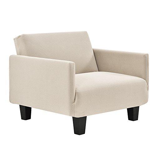 [neu.haus]]® Sesselbezug 70-120cm Sesselhusse Sandfarben 1-Sitzer Sesselüberzug Schonbezug