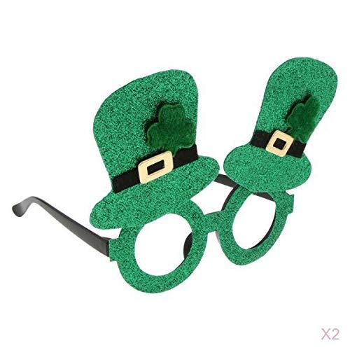 LOVIVER 2 Stück St. Patrick's Tag Brillen Irish Brillen für St. Patrick's Tag Party Zubehör (St Patricks Tag-brille)