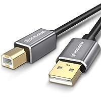 POSUGEAR [3M] Cable para Lmpresora 3 Meters, Cable USB 2.0 de Tipo A Macho a Tipo B Macho Conector para Escáner, Fotografía Digital y Otros Dispositivos(3M)