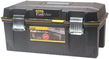 """Stanley FatMax Werkzeugbox """"Structual Foam"""", Spritzwassergeschützt, mit Metallschliessen und rundumlaufende Gummidichtung, 1-94-749"""