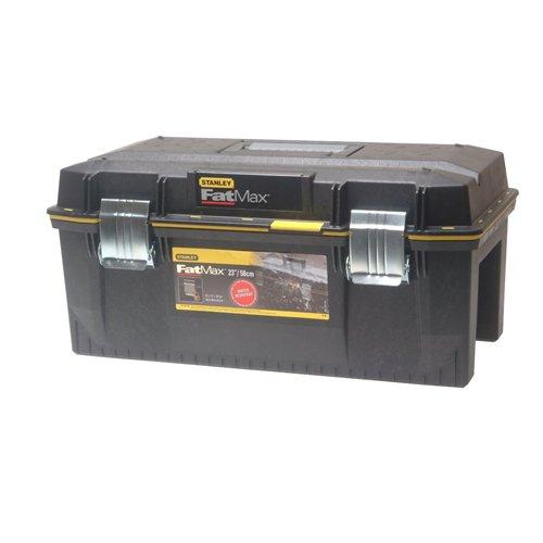 Preisvergleich Produktbild Stanley FatMax Werkzeugbox / Werkzeugkoffer (58.4x30.5x26.7cm, spritzwassergeschützer Koffer, robuste nicht-rostende Metallschließen, Box mit Gummiabdichtung für mehr Schutz) 1-94-749