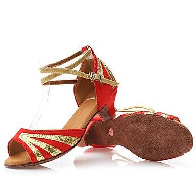 Scarpe da ballo - Non personalizzabile - Bambino - Latinoamericano - Basso - Satin - Nero / Blu / Rosso / Altro Red