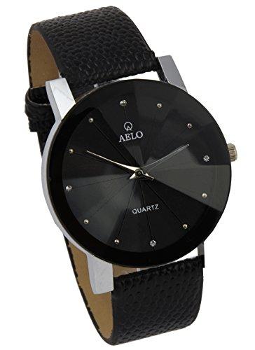 AELO Black Dial Leather Belt Girls,Women's Watch-WWW1083