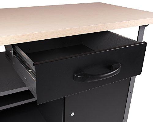 Ondis24 stabile 120 cm breite Montagewerkbank Werkstatteinrichtung Werkstatt Werkbank Werktisch mit abschließbarer Tür, stabiles Modell mit höhenverstellbaren Füßen - 3