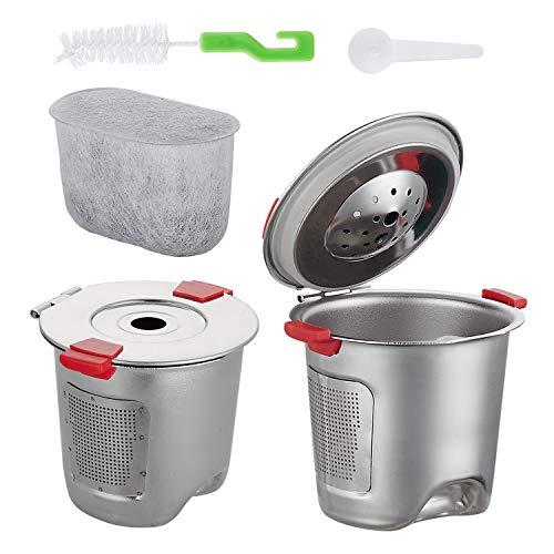 endbare K Tasse für nachfüllbare Kaffee-Filter für Keurig Brauer 2.0 und 1.0 Kaffeemaschinen kompatibel Premium Kaffeepadsund Zubehör Filter K Cup ()