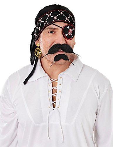 1 Luxus Pirat Kopftuch, Herren, mehrfarbig, Einheitsgröße ()