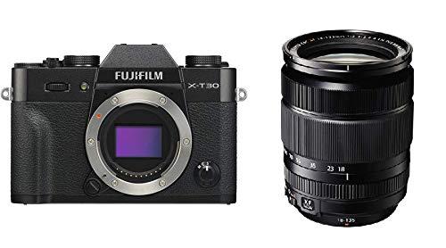 Fujifilm X-T30 Mirrorless Digital Camera Kit with XF 18-135mm f/3.5-5.6 R LM OIS WR Lens (Black)